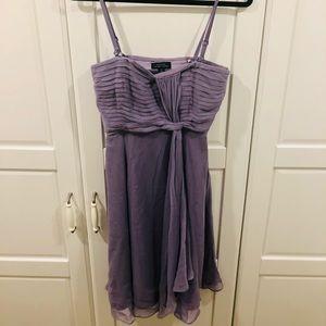 Tahari 100% Silk Lilac Dress
